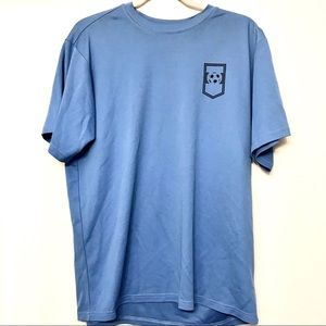 Soffe Dry fit blue soccer tee size L